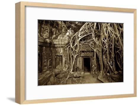 Strangler Fig Tree Roots Devour Temple Ruins at Ta Prohm Temple-Jim Richardson-Framed Art Print