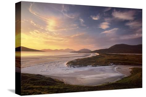 Sunset Illuminates Luskentyre Strand and Its Serpentine Coastline-Jim Richardson-Stretched Canvas Print