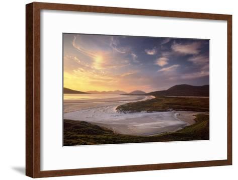 Sunset Illuminates Luskentyre Strand and Its Serpentine Coastline-Jim Richardson-Framed Art Print