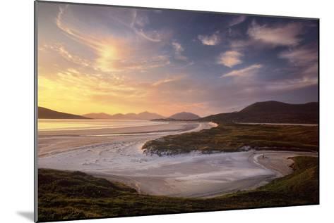 Sunset Illuminates Luskentyre Strand and Its Serpentine Coastline-Jim Richardson-Mounted Photographic Print