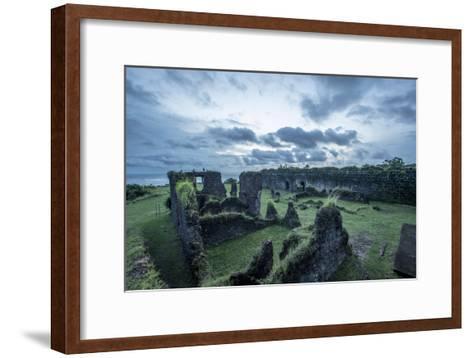 Dramatic Clouds Over Fort San Lorenzo, Panama-Jonathan Kingston-Framed Art Print