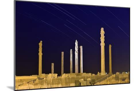 Star Trails Over 2500-year-old Apadana Palace, a World Heritage Site-Babak Tafreshi-Mounted Photographic Print