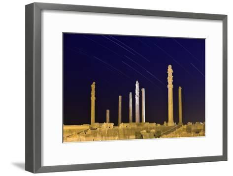 Star Trails Over 2500-year-old Apadana Palace, a World Heritage Site-Babak Tafreshi-Framed Art Print