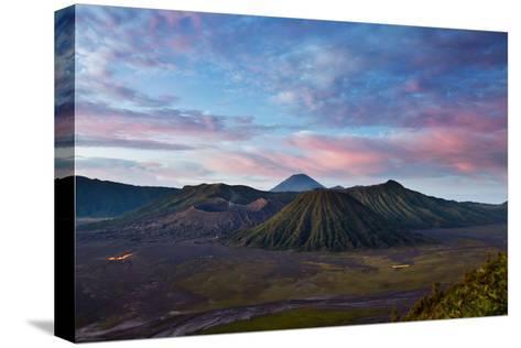 Mount Bromo Volcano and Bromo Tengger Semeru National Park-Alex Saberi-Stretched Canvas Print