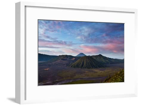 Mount Bromo Volcano and Bromo Tengger Semeru National Park-Alex Saberi-Framed Art Print