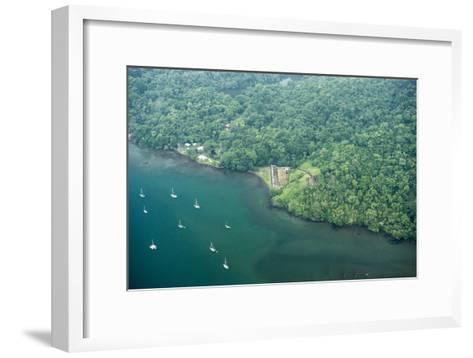 Aerial View of Fort San Fernando, Portobelo, Panama-Jonathan Kingston-Framed Art Print