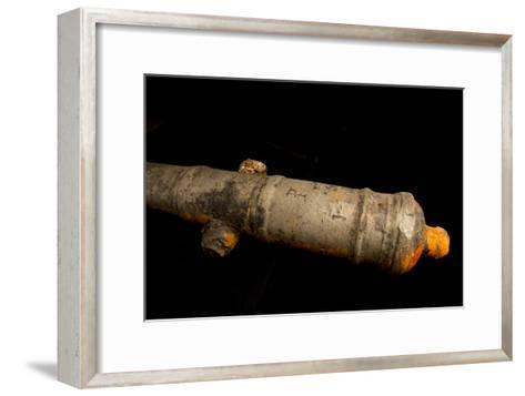 A 17th Century Cannon Found on a Shipwreck in Panama-Jonathan Kingston-Framed Art Print