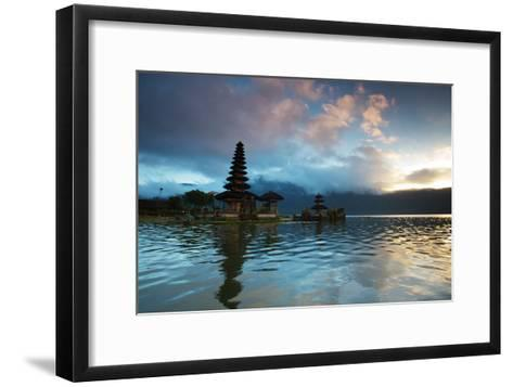 The Pura Ulun Danu Bratan Temple at Sunrise-Alex Saberi-Framed Art Print