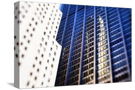 Architecture in the Financial District of New York City-Keith Barraclough-Stretched Canvas Print