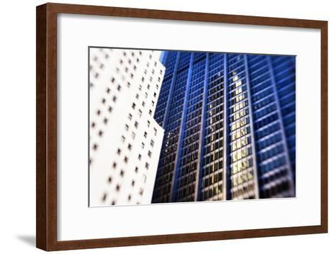 Architecture in the Financial District of New York City-Keith Barraclough-Framed Art Print