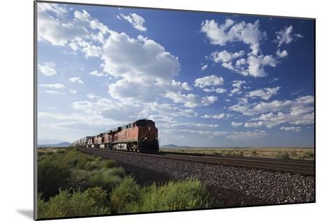 A Train Crossing the Landscape-John Burcham-Mounted Photographic Print