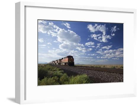 A Train Crossing the Landscape-John Burcham-Framed Art Print