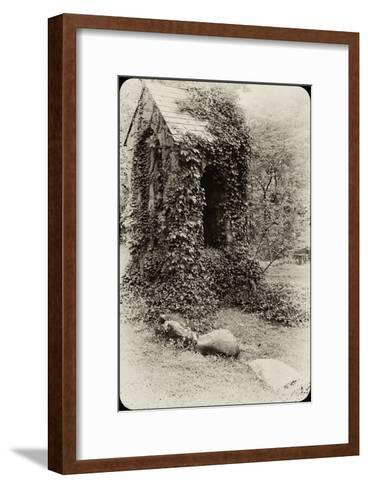 The Old Bell Tower at Warren Wilson College, Covered in Vines-Amy & Al White & Petteway-Framed Art Print