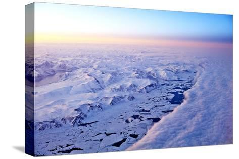 Aerial View of a Snow Covered Barren Landscape in Russia--Stretched Canvas Print
