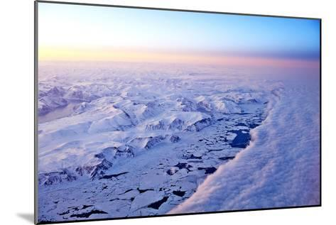 Aerial View of a Snow Covered Barren Landscape in Russia--Mounted Photographic Print