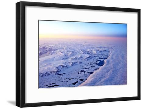Aerial View of a Snow Covered Barren Landscape in Russia--Framed Art Print