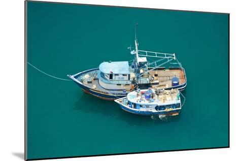 Fishing Boats Are Moored Side by Side in the Green Pacific Waters-Kike Calvo-Mounted Photographic Print