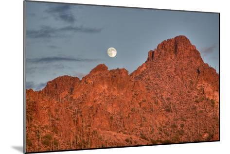 A  Mountain Range at Sunset in Tucson, Arizona-John Burcham-Mounted Photographic Print