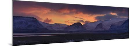 Dramatic Sky Over Mountains and Glaciers Near Thingvellir at Dawn-Raul Touzon-Mounted Photographic Print