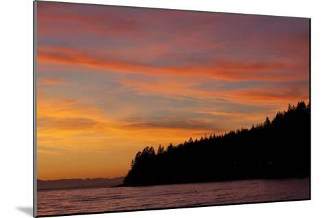A Fiery Sky at Sunset Above Sunshine Coast and the Pacific Ocean-Matthias Breiter-Mounted Photographic Print