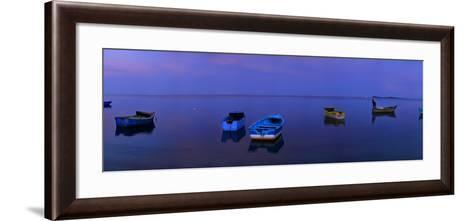 Boats Moored Off Monte Cristi-Raul Touzon-Framed Art Print