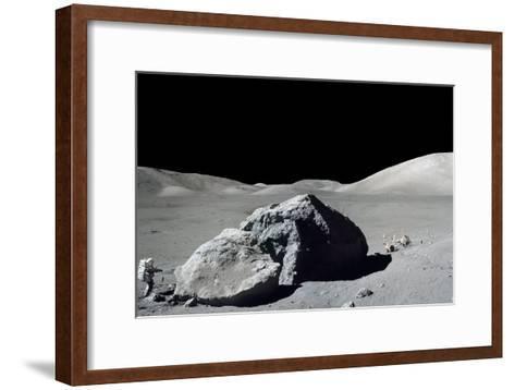 Apollo 17 Astronaut Harrison Schmitt During the Final Moonwalk of the Apollo Program--Framed Art Print