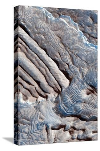 Periodic Layering in the Becquerel Crater on Mars--Stretched Canvas Print