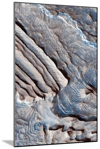 Periodic Layering in the Becquerel Crater on Mars--Mounted Photographic Print