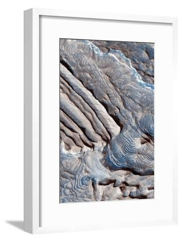 Periodic Layering in the Becquerel Crater on Mars--Framed Art Print
