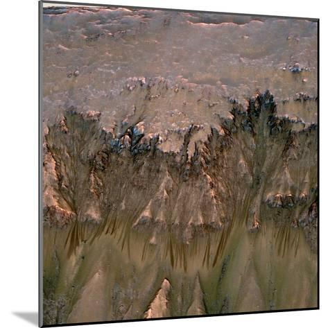 Changes in Gullies on Mars's Newton Crater Might Be Evidence of Flowing Water--Mounted Photographic Print