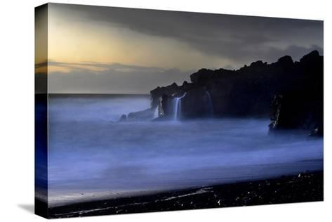 The Atlantic Ocean and Cliffs at Selatangar at Sunset-Raul Touzon-Stretched Canvas Print