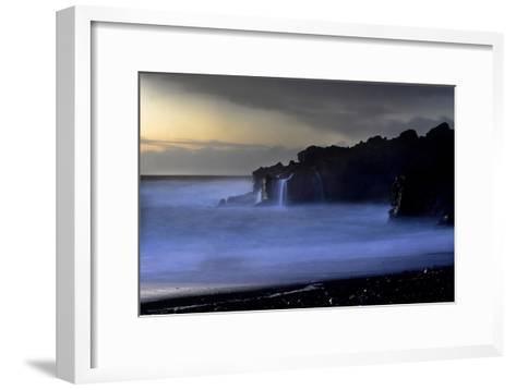 The Atlantic Ocean and Cliffs at Selatangar at Sunset-Raul Touzon-Framed Art Print