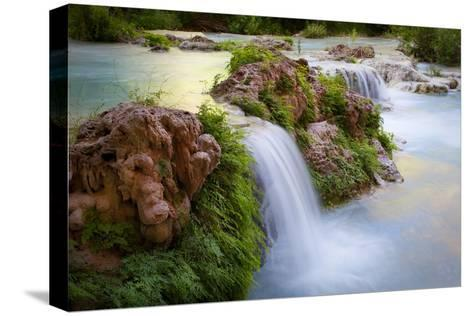 Havasu Creek Rushes Over Falls in Havasu Canyon-Derek Von Briesen-Stretched Canvas Print