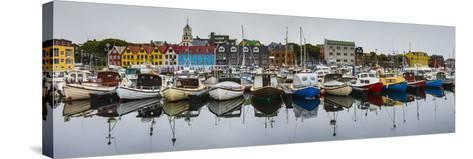 View of a Colorful Harbor in Torshavn's Historic Tinganes District-Ralph Lee Hopkins-Stretched Canvas Print