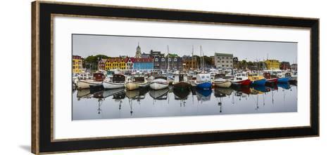 View of a Colorful Harbor in Torshavn's Historic Tinganes District-Ralph Lee Hopkins-Framed Art Print