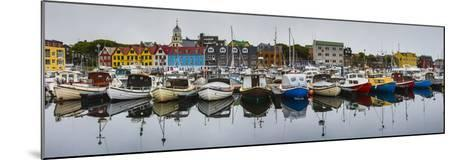View of a Colorful Harbor in Torshavn's Historic Tinganes District-Ralph Lee Hopkins-Mounted Photographic Print