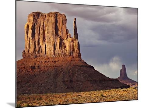 Summer Rain Clouds, Sunlit West Mitten and Big Indian Rock Formation-Derek Von Briesen-Mounted Photographic Print