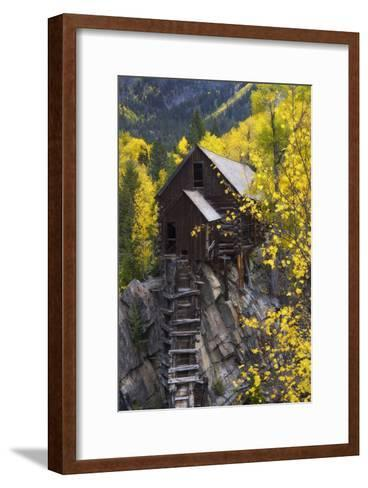 A Mill on a Rock Promontory Above the Crystal River-Robbie George-Framed Art Print