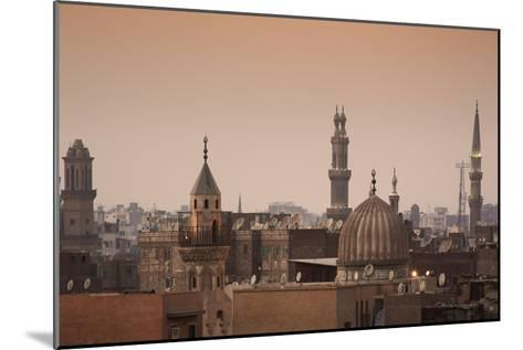 Minarets and Mosques of Cairo at Dusk-Alex Saberi-Mounted Photographic Print