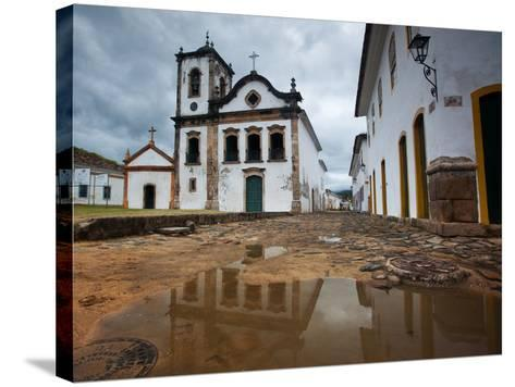 Capela De Santa Rita, An Old Historic Church in Paraty-Alex Saberi-Stretched Canvas Print