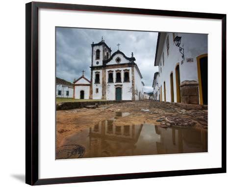Capela De Santa Rita, An Old Historic Church in Paraty-Alex Saberi-Framed Art Print