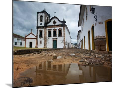 Capela De Santa Rita, An Old Historic Church in Paraty-Alex Saberi-Mounted Photographic Print