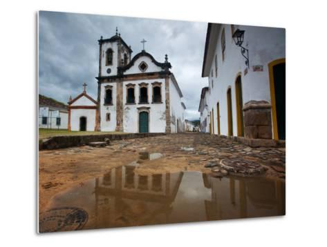Capela De Santa Rita, An Old Historic Church in Paraty-Alex Saberi-Metal Print
