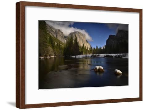 El Capitan Reflected in the Merced River-Raul Touzon-Framed Art Print