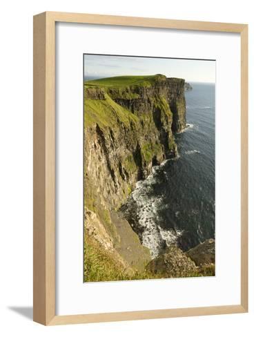The Cliffs of Moher and the Atlantic Ocean-Jeff Mauritzen-Framed Art Print