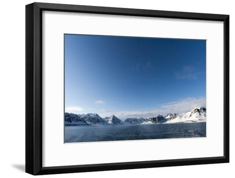A Scenic View of Ice Covered Mountains Surrounding Magdalenefjorden-Sergio Pitamitz-Framed Art Print