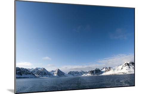 A Scenic View of Ice Covered Mountains Surrounding Magdalenefjorden-Sergio Pitamitz-Mounted Photographic Print