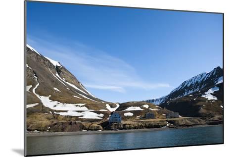 An Old Settlement Nestled Among Cliffs Near Longyearbyen on the Bay of Adventfjorden-Sergio Pitamitz-Mounted Photographic Print