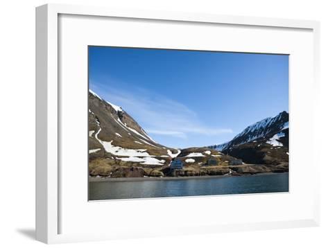 An Old Settlement Nestled Among Cliffs Near Longyearbyen on the Bay of Adventfjorden-Sergio Pitamitz-Framed Art Print