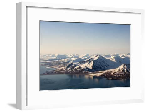 Sunlight Highlights Ice Covered Mountains on Spitsbergen Island-Sergio Pitamitz-Framed Art Print
